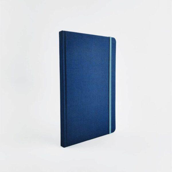 Royal Blue Woven Cloth Notebook