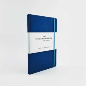 stamford notebooks royal blue woven cloth notebook front