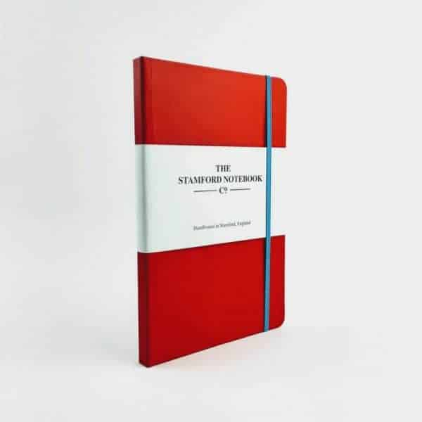 Vibrant Buckram Red Notebook