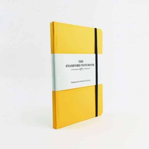 Vibrant Buckram Yellow Notebook