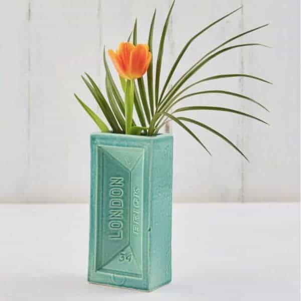 Blue London Brick Vase