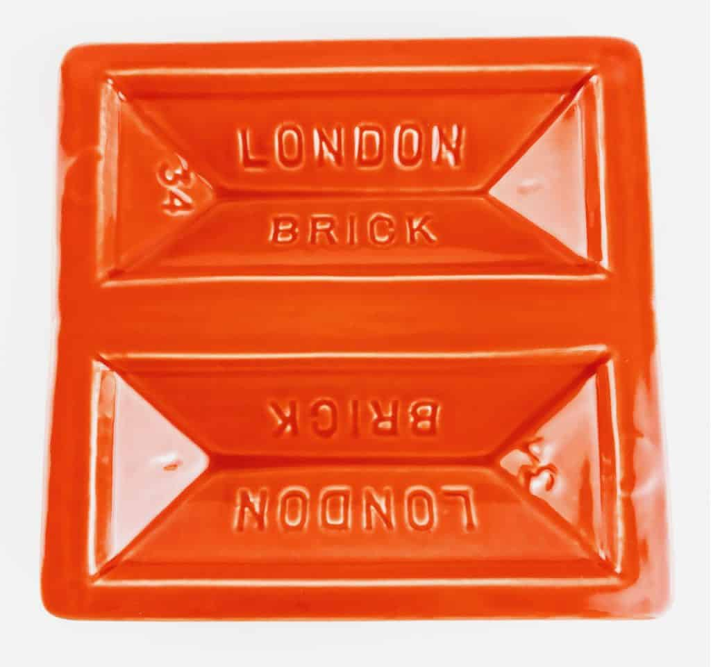 stolen form orange london brick dish 2 - British made luxury handcrafted unique gifts for her