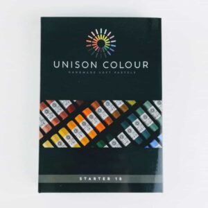 unison colour classic 18 pastel set, artists soft pastel set, beginners pastel set handmade soft artist pastels made in northumbria
