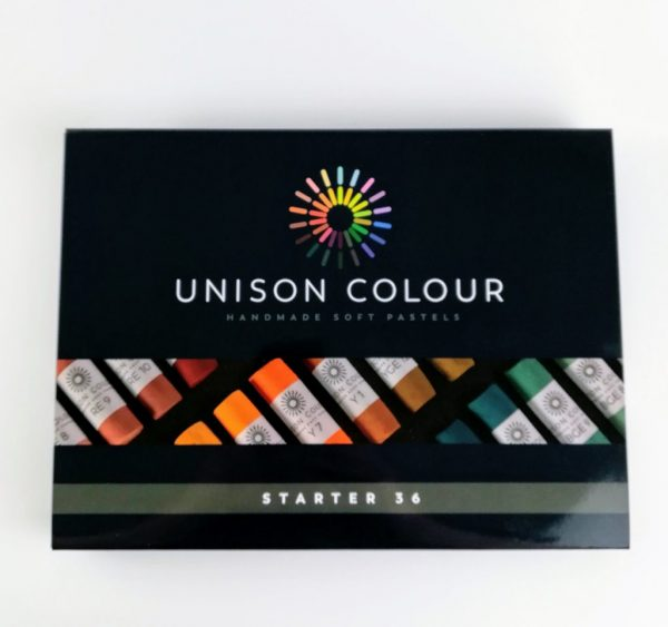 pack of 36 unison coloured art pastels