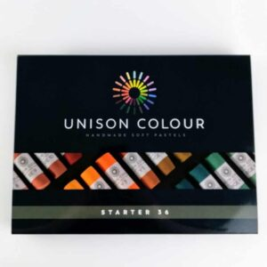 unison colour classic 36 pastel set, artist pastel set hand made soft pastels made in northumbria