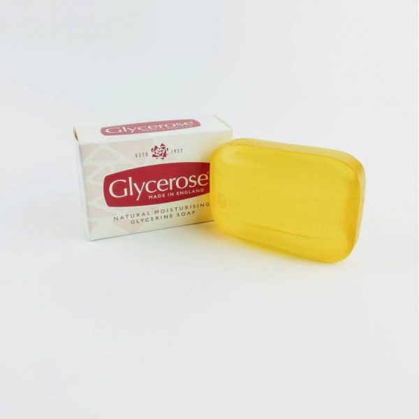 Droyt's Classic Glycerose Soap next to box