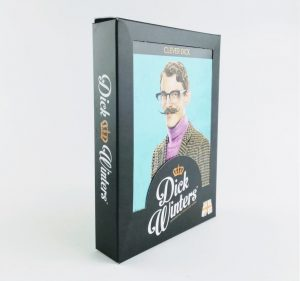 dick winters clever dick trunks for men in a presentaion box with clever man on front