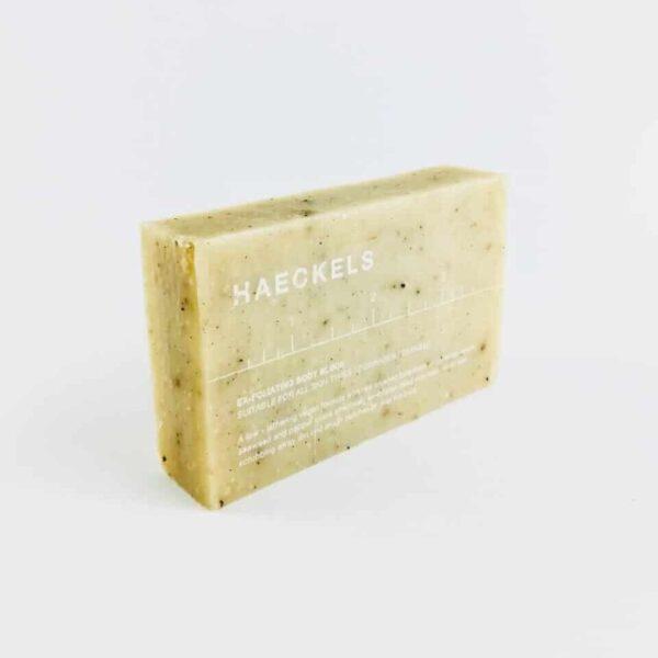 haeckels of margate exfoliating seaweed block, exfoliant soap, seaweed soap, seaweed exfoliating soap bar haeckels