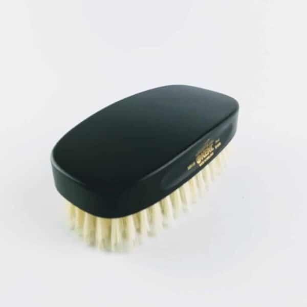 Kent Ebony Military Hair Brush white bristles