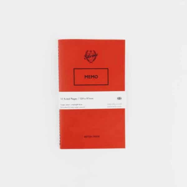 silvine originals original red memo book