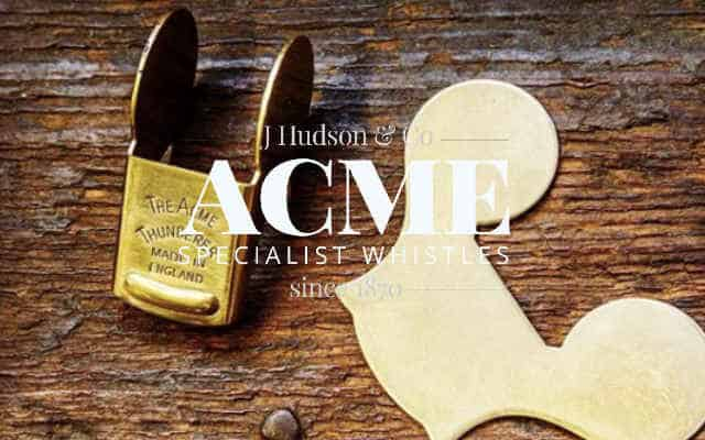Acme Whistles brand lock up