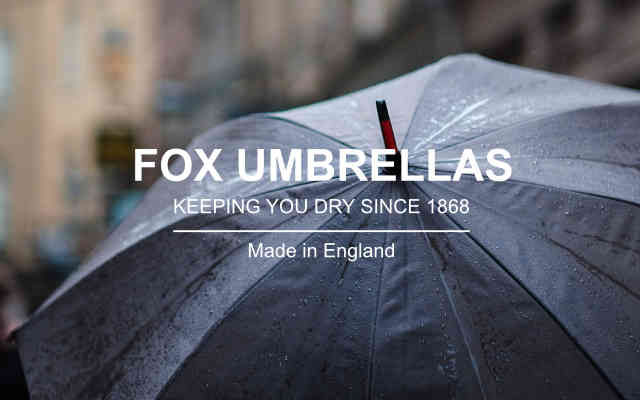 Fox Umbrellas brand lock up low res - British Brands