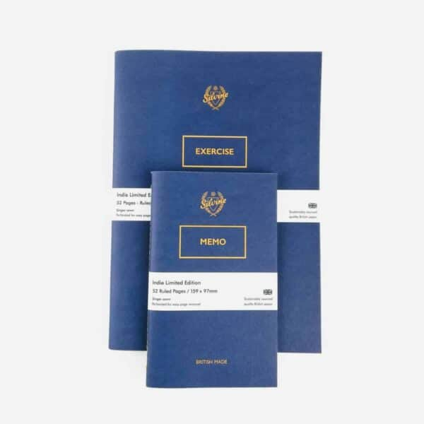 Silvine originals blue notebook collection, blue handboud note book made in yorskire notebook, traditional notebook in blue