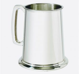 one pint wentworth pewter tankard