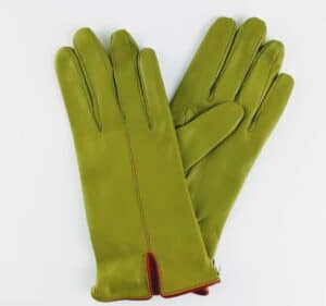chester jefferies leather kingsman fennel leathe gents gloves with red piping