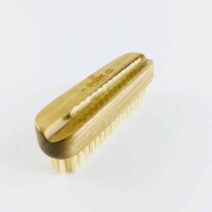 kent wood nail brush with white bristles
