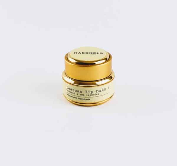 gold pot of heackels seaweed lip balm
