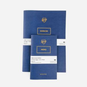 set of two silvine originals blue blot notebooks