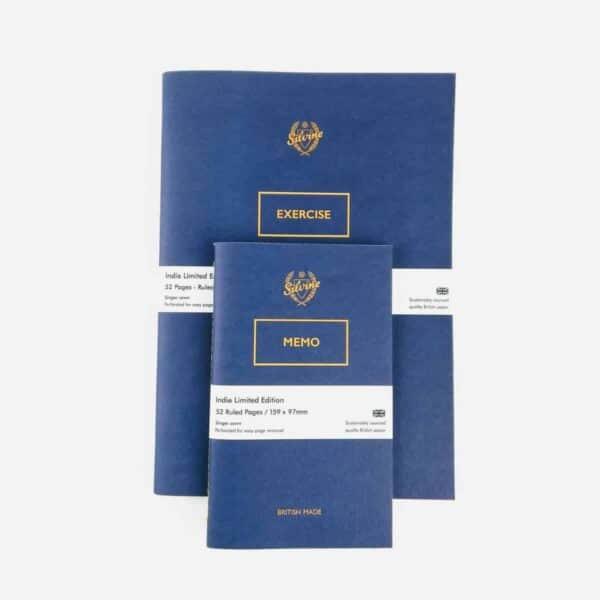 set of two silvine originals blue blot notebooks