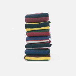 stack of stripy sock from Corgi on white background