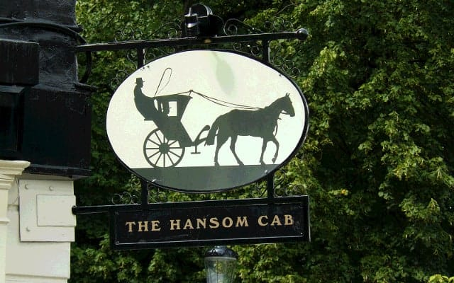 Pub sign Hanson cab blog small images 1 640 x 400 - The History of British Pub Signs