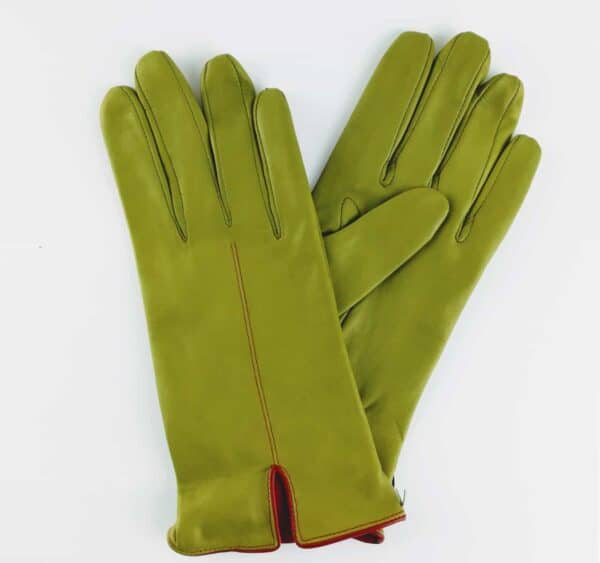 chester jefferies the kingsman glove made fennel coloured leather and cape red piping with a silk lining
