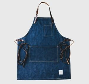 Risdon and Risdon full length denim apron