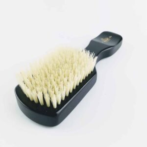 kent brushes Ebony Club Hair Brush with white bristles face up