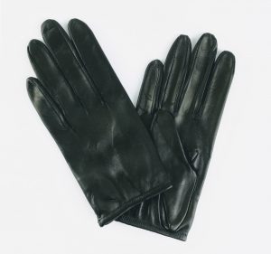 pair of chester jefferies black leather Prom gloves
