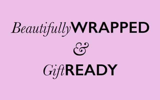 Gift ready banner landing page - British made luxury handcrafted unique gifts for her
