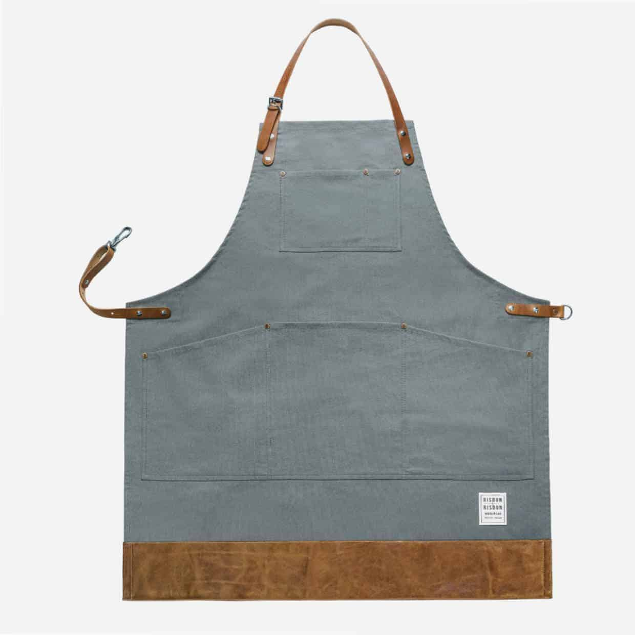 Risdon Grey 1240x1240 - Risdon & Risdon Interview - The making of handcrafted aprons.