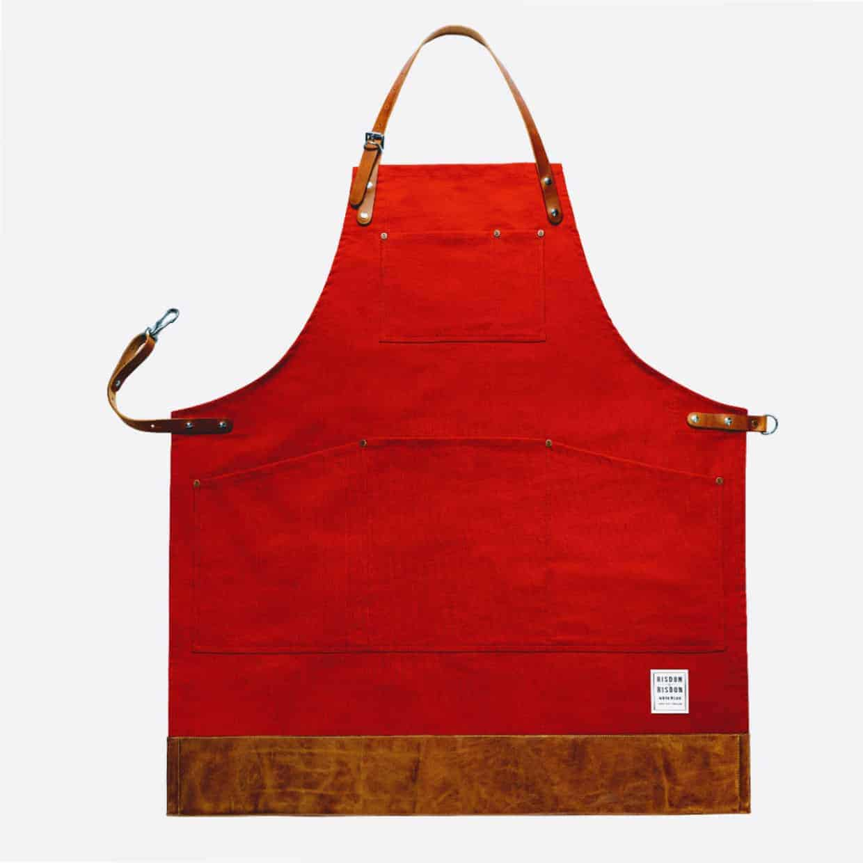 Risdon red 1240x1240 - Risdon & Risdon Interview - The making of handcrafted aprons.