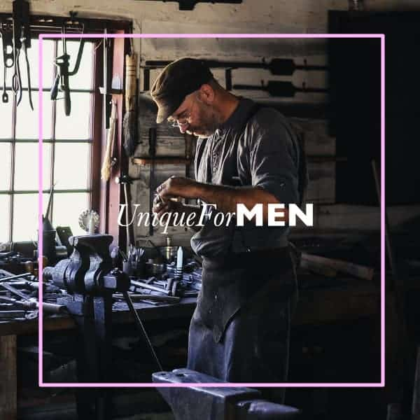 unique gifts for men with man in workshop