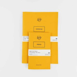 Silvine Originals Bumble Yellow Ltd Edition Notebook Set one on top of the other