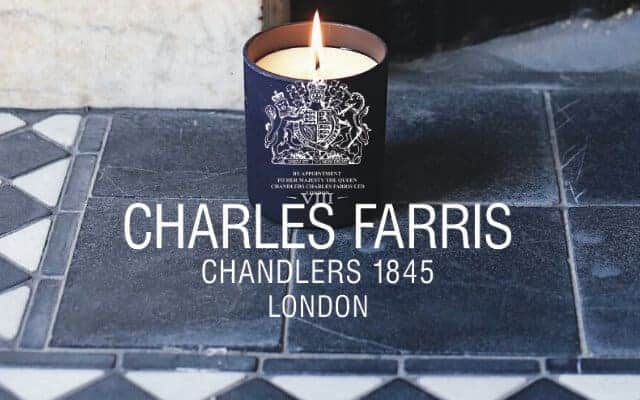 charles farris candle on hearth