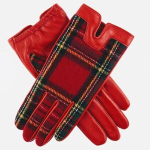 Dents Ladies Balmoral Tartan Gloves Berry