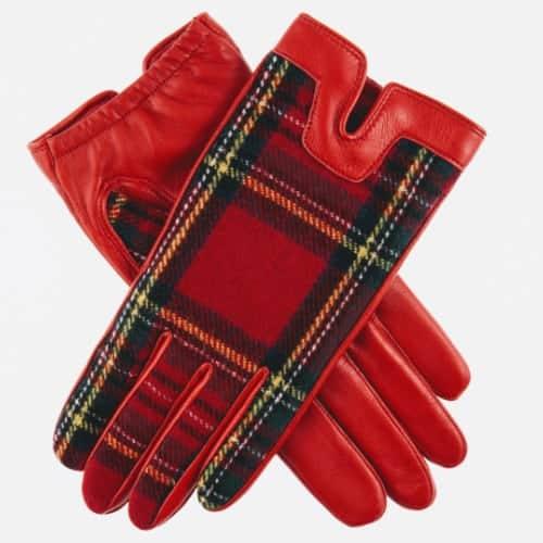 Balmoral Tartan Gloves | Berry | Ladies