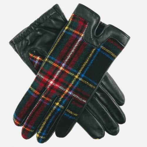 Dents Ladies Balmoral Tartan Gloves Black