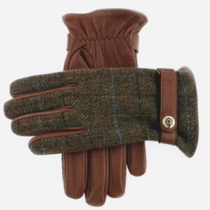 Gents Dents Havana and Chestnut tweed muncaster gloves