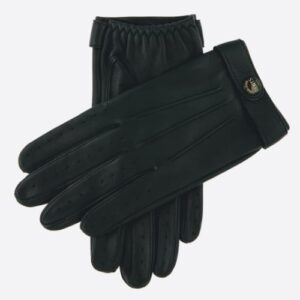 "Fleming ""007"" Driving Gloves Black Leather Gents"