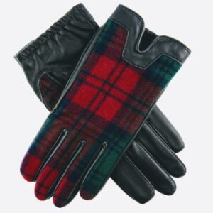 Women's Tartan and Navy Gloves