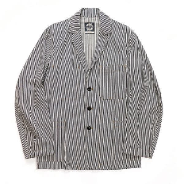 Ticking Stripe Engineers jacket front small