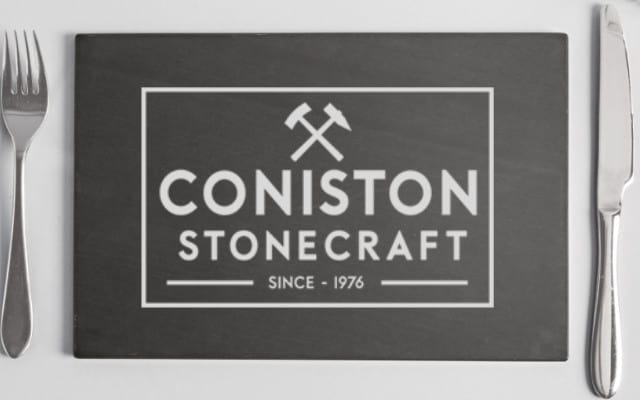 handcrafted coniston stonecraft brand slate place mat