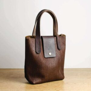 Small Bison Leather Handbag