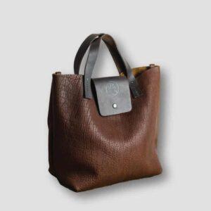 heather borg Bison Leather handbag, leather small british made handbag