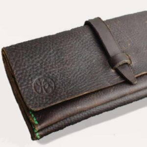 Dark Brown Kodiak Leather Purse