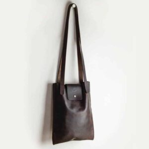Brown Kodiak Leather Shoulder Bag