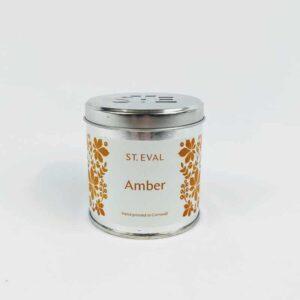 Amber Tin Candle