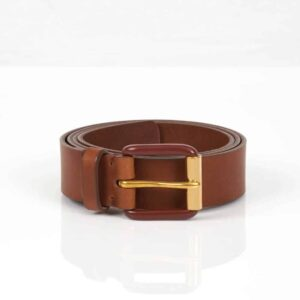 Modernist Belt – Exposed Saddle Brown/Brass