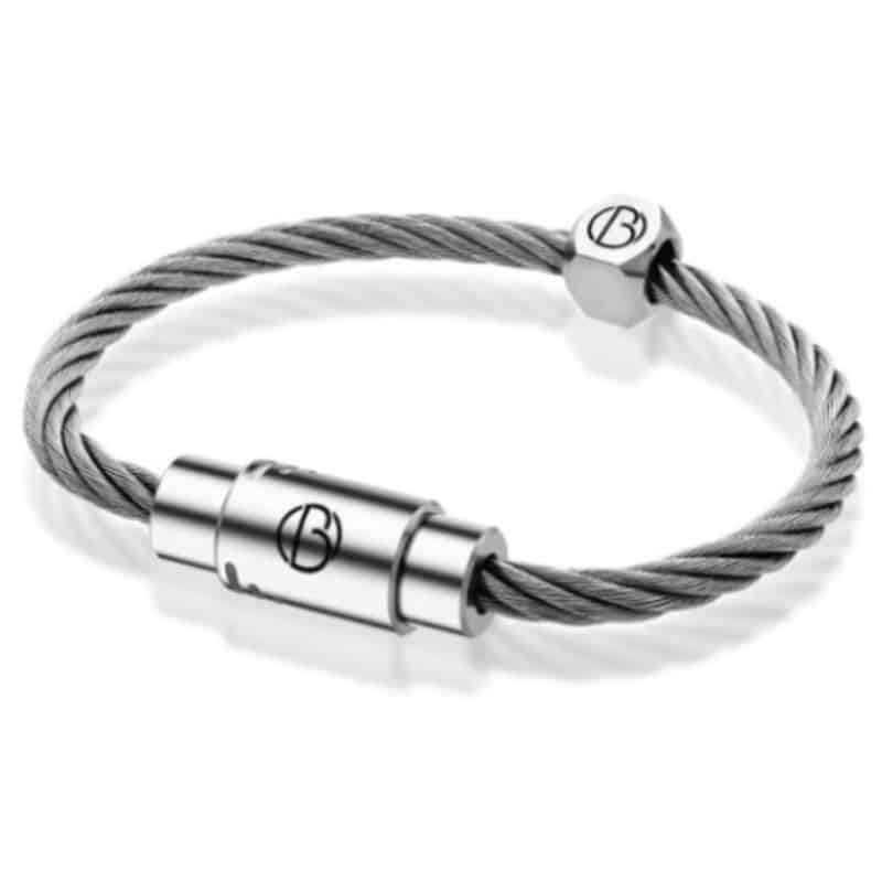 Bailey of sheffield stainless steel cable braceletStainless steel bracelet